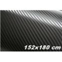 Carbon folie 3D 152x180 cm černá
