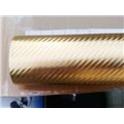 Carbon folie 3D 152x180 cm zlatá