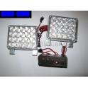 Stroboskopy 2 x 20 LED modré