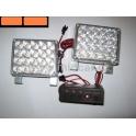 Stroboskopy 2 x 20 LED oranžové