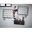Stroboskopy 2 x 20 LED bílé