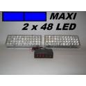 Stroboskopy MAXI 2 x 48 LED modré