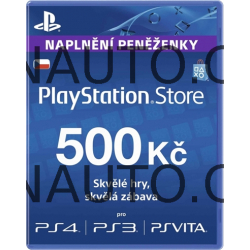PlayStation Live Cards Hang CZK500/CZE