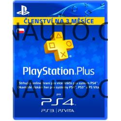 PlayStation Plus Card Hang 90 Days/CZE