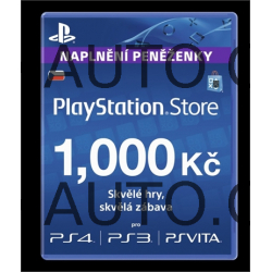 PlayStation Live Cards Hang CZK1000/CZE