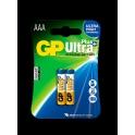GP baterie Ultra Plus alkaline LR03 AAA 2 ks - blistr