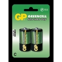 GP baterie Greencell malé mono R14 C 2 ks - blistr