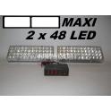Stroboskopy MAXI 2 x 48 LED bílé
