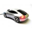 Myš ve tvaru auta Porsche optická USB svítící stříbrná