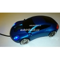 Myš ve tvaru auta Porsche NEW optická USB svítící modrá