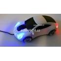 Myš ve tvaru auta Porsche optická USB svítící bílá