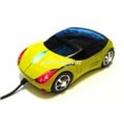 USB myš auto k PC optická tuning svítící žluto zelená
