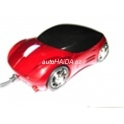 USB myš auto k PC optická tuning svítící červená