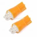 Žárovka 4LED 12V  T10  oranžová  2ks