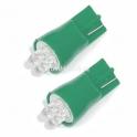 Žárovka 4LED 12V  T10  zelená  2ks