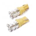 Žárovka 9 SUPER LED 12V T10 oranžová 2ks