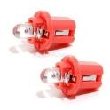 Žárovka 1LED 12V  B8,5d  èervená 2ks