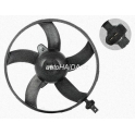 Ventilátor s krytem/podpěrou Ibiza, Corboba 02-, Fabia I, II, Roomster, Polo 01-