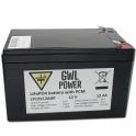 GWL/Power LiFePO4 Battery Pack (12V/12Ah PCM)