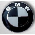 BMW znak na víko kufru, Emblem, prùmìr 74 mm Černobílý