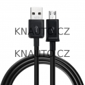 USB Micro datový kabel / nabíjecí kabel 1M černý
