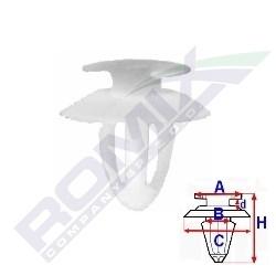 Spona ROMIX A15054 - čalounění Mercedes 123, 124, E W202, C W202