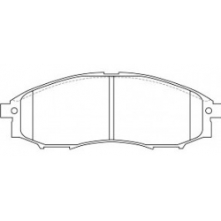 Brzdové destičky DELPHI LP1772 Nissan Murano Z50, Navara, Pathfinder - přední